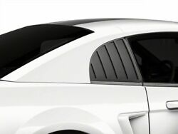 MMD Quarter Window Louvers in Matte Black for Ford Mustang 99 04 GT V6 Cobra
