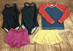 Hanna Andersson Girls Swimsuits Size 110 Bathing Suits 5 Piece Lot Set UPF $39.99