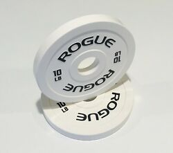 Rogue 10 Pound Change Plates White Pair 20 lbs Total $175.00
