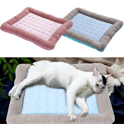 Dog Cooling Mat Pet Cat Chilly Washable Summer Cool Bed Pad Cushion Indoor Blue $18.47