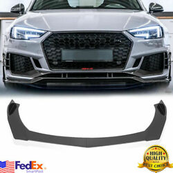 Front Bumper Lip Spoiler Lower Splitters Glossy Black For AUDI A4 A5 A6 A7 S4 S5 $42.99