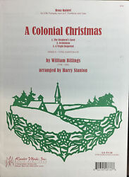 HOLIDAY A Colonial Christmas for grade 3 brass quintet. $6.50