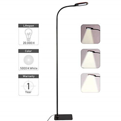 Twinkle Star Gooseneck Floor Lamp Dimmable LED Standing Lamp Reading Lamp for $37.65