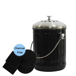 4W Indoor Compost Bin for Kitchen Counter 1.3 Gallon Compost Bucket with Stai... $45.09