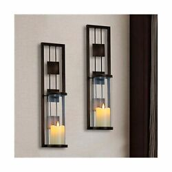 Shelving Solution Wall Sconce Candle Holder Metal Wall Decorations for Living... $42.12