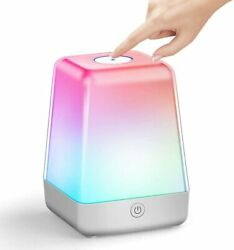 Touch LED Night Light Dimmable Color Changing Bedside Table Lamps for Kids $35.32