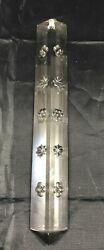 Vintage Chandelier Cut Crystal Glass Star Colonial Prism Spear Long 7 5 8quot; NoTop $22.99