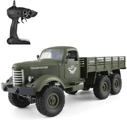 RC Military Truck 1 16 Scale 2.4GHz RC 6WD Military Truck Model Car Toy Vehicle $55.99