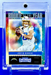 JUSTIN HERBERT 2020 PANINI CONTENDERS ROOKIE OF THE YEAR SILVER RC CHARGERS $40.00
