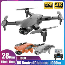 L900 GPS Drone 4K With Camera Anti Shake Foldable RC Quadcopter Brushless Motor $125.92