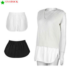 Fake Shirt Hem Button Down Detachable Waist Skirt for Sweater Vest Hoodie Gift $8.40