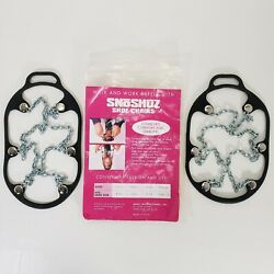 SnoShuz Shoe Chains Fits Mens amp; Womens Shoes Traction for Snow and Ice Sz M amp; L $24.95
