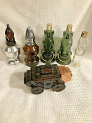Lot Of 6 Vintage Avon Cologne Fragrance Novelty Bottles Wild Country EMPTY $24.95