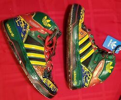 Adidas Originals mens High top ONE of A kind CUSTOM SHOES hand painted art 9.5 $1419.00