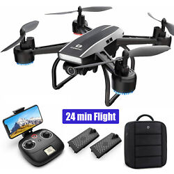 Holy Stone D50 2.4G FPV Drone 2K HD Video Camera RC Quadcopter with 2 Batteries $59.97