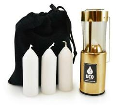 UCO Original Candle Lantern Value Pack with 3 Candles and Storage Bag Brass $42.39