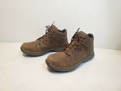 Dunham SIMON Waterproof Brown Leather Ankle Hiking Men#x27;s 13EE Boots 2E $67.00