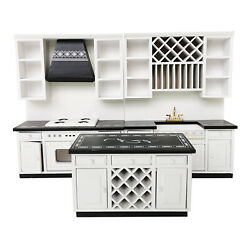1 12 Dollhouse Wooden Modern Kitchen Cooking Cabinet Furniture Miniature $49.32