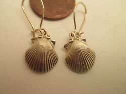 14K Scallop Shell Earrings Symbol of St. James Santiago de Compostela $250.00