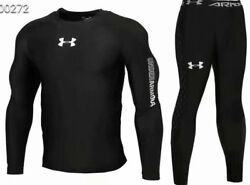 Under Armour Men#x27;s Cold Gear Long Tight and Long Sleeve Compression NEW MODEL $39.99