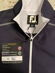 NEW FOOTJOY Golf Sport S S Windshirt Pullover Navy White Men's Medium $50.00