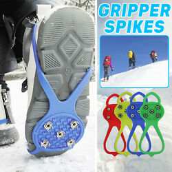 Non slip Snow Cleats Shoes Boots Cover Step Ice Spikes Grips Crampons ForHiking $8.09