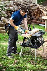 Keter Folding Table Work Bench for Miter Saw Stand Woodworking Tools and Access $79.97