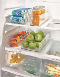 iDesign Kitchen Bins 4 Piece Set For Fridge Freezer Or Pantry New In Opened Box $25.00