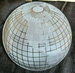 Atlas Replacement 8 1 8quot; dia frosted earth glass shade disc for art deco lamps $55.00