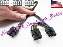 ➨➨➨ 12quot; HP ML350P Gen8 Server 8 Pin to Two 62 Pin PCI E Power Cable ➨➨➨ $23.99