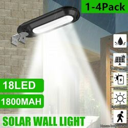 Outdoor Commercial 18 LED Solar Street Light IP55 Waterproof Dusk to Dawn Lamps