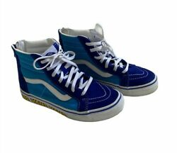 Vans Off The Wall Kids Sneakers High Top Skateboard Shoes Sz US 2 $18.95