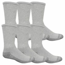 Fruit Of The Loom M8000g6us 12 SocksMens10 13GrayPk6 $9.19