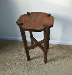 Antique Mission Arts and Crafts Small Oak Table or Plant Stand Early 1900#x27;s $139.95