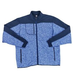 Footjoy Golf Fleece Knit Jacket Men's Size XL Blue MSRP $145 $59.99