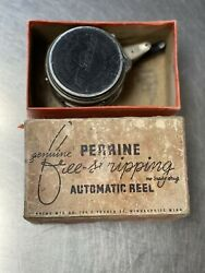 VINTAGE PERRINE GENUINE FREE STRIPPING AUTOMATIC NO.80 FLY REEL W BOX Ships Fast $29.99