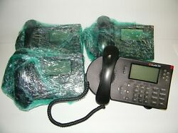 4 ShoreTel 560 IP System Phone Telephone w Stand amp; Headset FOUR Phones $15.00