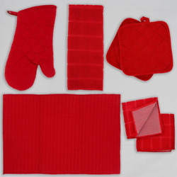 Home Collection Kitchen Red Dish Towels Drying Mat and Linens YOU CHOOSE $2.69