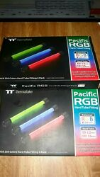 thermaltake Pacific rgb hard line fittings 6 pack. 1 set of two left available. $105.00