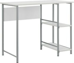 Mainstays Basic Metal Student Computer Desk Silver with White $200.00
