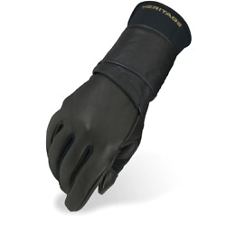 Heritage Gloves Pro 8.0 Right Handed Bull Riding Glove Black $36.95