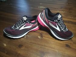 Brooks Ghost 10 Womens Running Shoes Size 6 Black Pink Cross Training SO CUTE $27.99