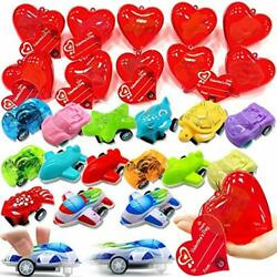 AMENON 28 Pack Kids Valentines Toys Cars Party Favors 28 Different Pull Back ... $26.79