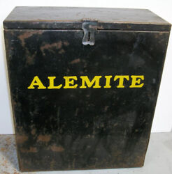 ALEMITE ANTIQUE BOX tool 1930#x27;s GREAT FOR VINTAGE DISPLAYS Can $100.00