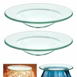 2 Pc Replacement Glass Dish Electric Oil Warmer Lamps Aromatherapy Warmers 4quot; $9.99
