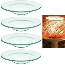 4 Pc Replacement Glass Dish Electric Oil Warmer Lamps Aromatherapy Warmers 4quot; $15.99