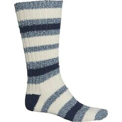 2 Pairs Men's Woolrich Camp Socks Marine Ivory Large Socks Free Shipping $23.95