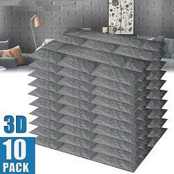 3D Wallpaper Tile Stone Brick Wall Sticker Self adhesive Waterproof Foam Panel $25.95