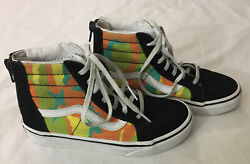 Vans Off The Wall Kids 1 Sneakers High Top Unique Camouflage Skateboard Shoes  $18.00