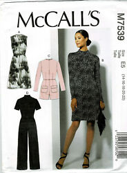 McCalls Pattern M7539 Misses#x27; Plus Dresses Jumpsuit Romper amp; Belt New Szs 14 22 $9.00